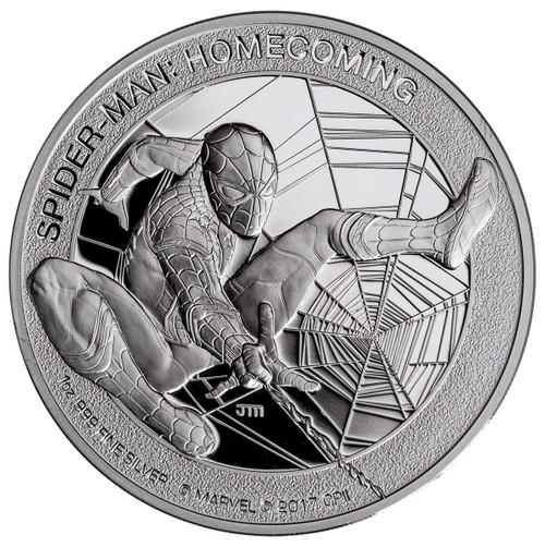 SPIDER-MAN HOMECOMING - JOHN MERCANTI DESIGN 2017 1 oz Silver Coin