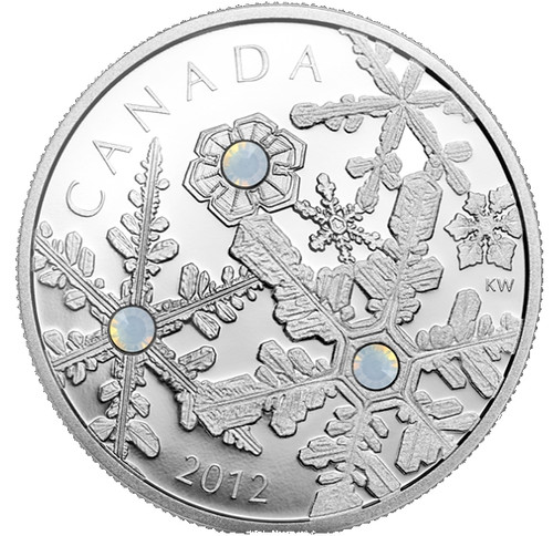 Holiday Snowstorm Fine Silver $20 Coin Canada 2012