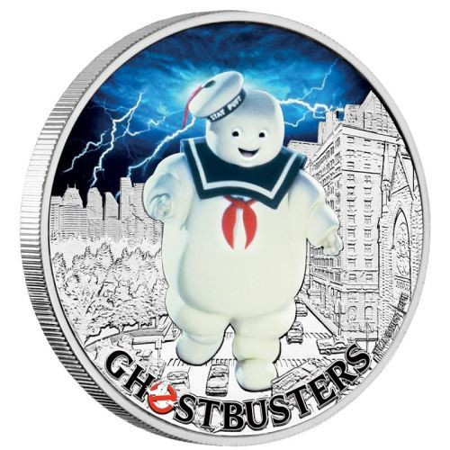 STAY PUFT GHOSTBUSTERS 1 Oz Silver Coin 1$ Tuvalu 2017