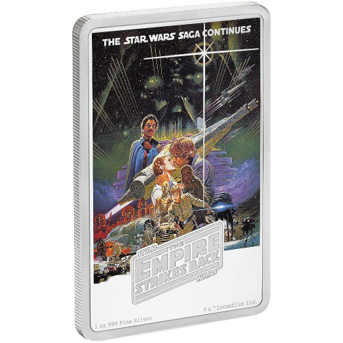 STAR WARS - THE EMPIRE STRIKES BACK - 1 oz Pure Silver Coin Niue 2017