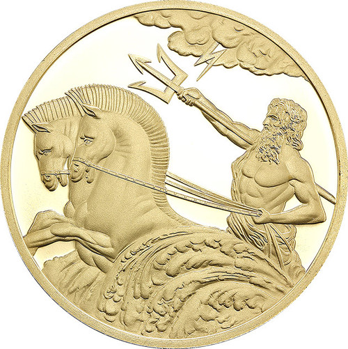 POSEIDON 0.5g Proof Gold Tokelau 2017