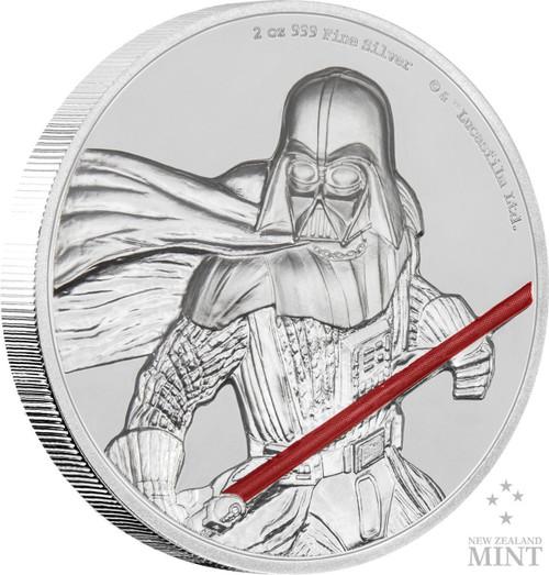 DARTH VADER Star Wars 2 Oz Silver Coin 5$ Niue 2017