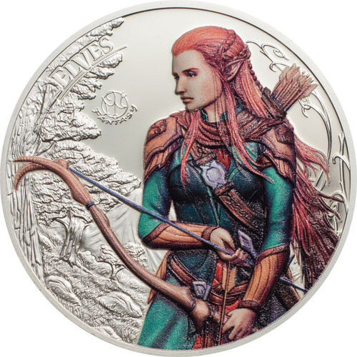 ELVES Fantastic Fantasy 1 oz Silver High Relief Coin 5$ Palau 2017