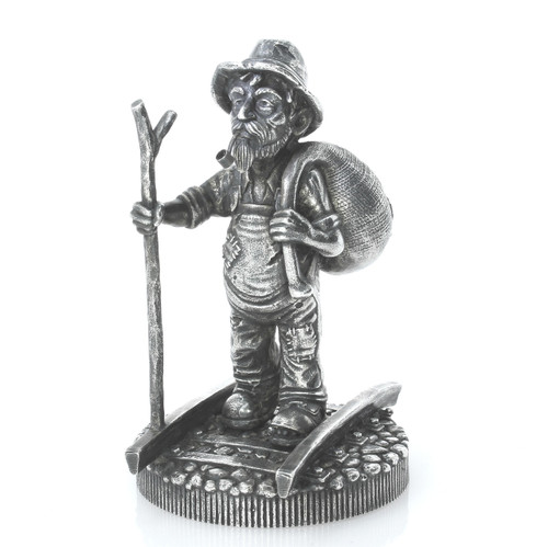 The WALKING HOBO – 10 oz Silver 3D STATUE with Serial Number