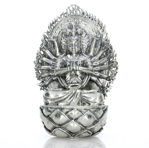 Avalokiteśvara the Thousand Armed Goddess –18 oz  Silver 3D STATUE