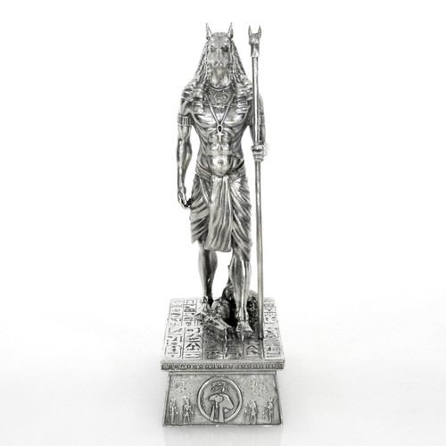 ANUBIS – LORD OF THE UNDERGROUND – GODS OF ANCIENT EGYPT – 3D STATUE – 13 oz Silver 3D STATUE