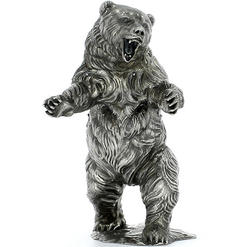 OZZY the SILVER BEAR– 3D STATUE – 12 oz Silver 3D STATUE - SERIAL NUMBER