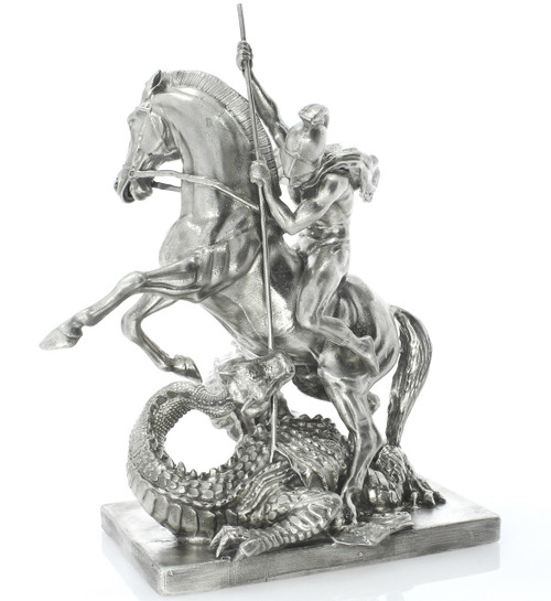 St.GEORGE & the DRAGON – 3D STATUE – 15 oz Silver 3D STATUE - SERIAL NUMBER