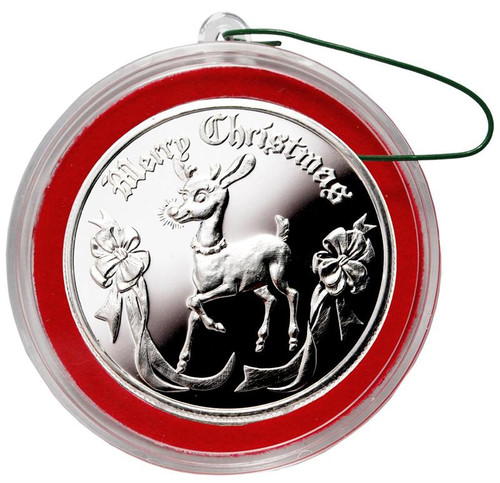 2013 Rudolph Christmas Round Silver 1 oz .999