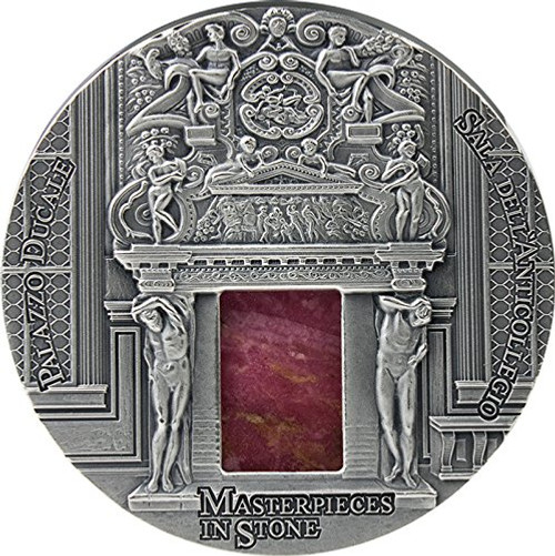 PALAZZO DUCALE Doge Palace Masterpieces In Stone 3 Oz Silver Coin Fiji 2016