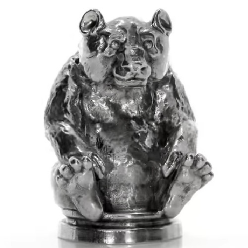 The Silver PANDA – 3D STATUE – 10 oz Silver