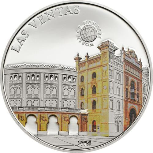 LAS VENTAS Madrid  Proof Silver Coin Palau 2013