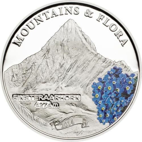 Mountains & Flora FINSTERAARHORN Proof Silver Coin Palau 2013