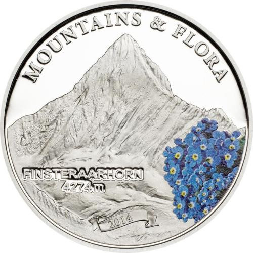 Mountains & Flora FINSTERAARHORN Proof Silver Coin Palau 2013
