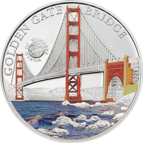 GOLDEN GATE SAN FRANCISCO Proof Silver Coin Palau 2013