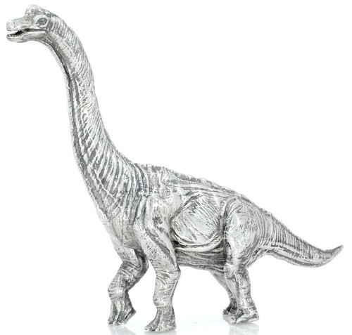 Brachiosaurus – 8 oz 3D Silver Statue – Unique Serial No.