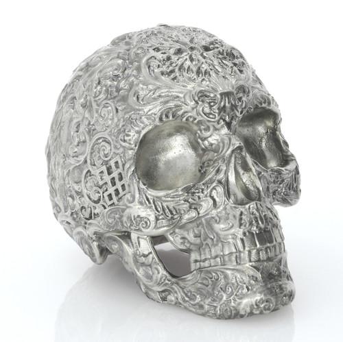 Skull of the Dead – 15 oz 3D Silver Statue – Unique Serial No.