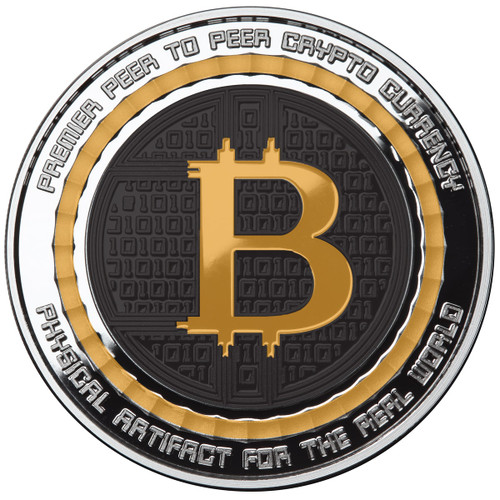 BITCOIN VALUE CONVERSION – 1 OZ SILVER PROOF COLORED ROUND