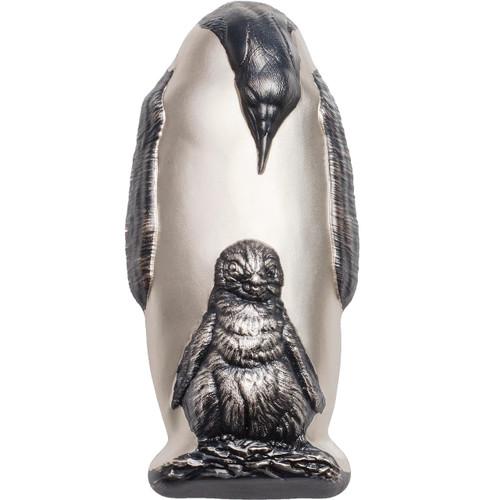 Emperor Penguin Shaped Silver Coin $20 Silver Coin - Cook Islands 2018
