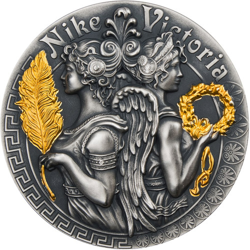 VICTORIA AND NIKE - Goddesses 2 Oz Silver Coin 5$ Niue 2018
