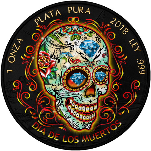 DAY OF THE DEAD – DIA DE MUERTOS – 2018 1 OZ LIBERTAD SILVER COIN