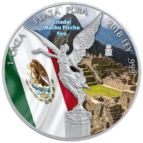 CITADEL MACHU PICCHU - LIBERTAD - 1 OZ SILVER COIN MEXICO 2018