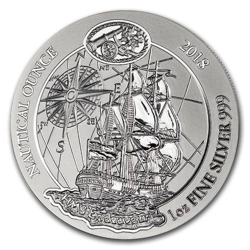 The HMS Endeavour Nautical Ounce 1 oz Silver Coin 2018