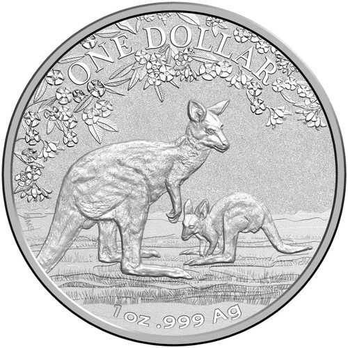 Kangaroo Seasons Change 1 oz Silver Coin in blister 2017 Australia