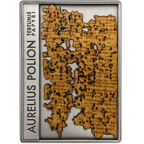 Aurelius Polion Letter · Tebtunis Papyri Silver Coin Niue 2018