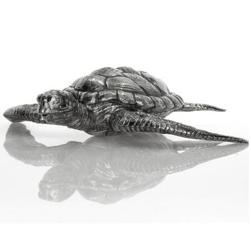 Hawksbill Sea Turtle– 3D 12 Troy oz solid Silver STATUE