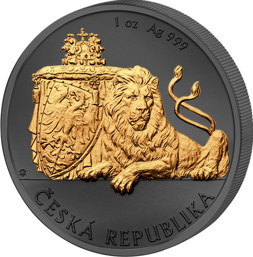 CZECH LION Golden Enigma 1 Oz Silver Coin 2 Dollars Niue 2018
