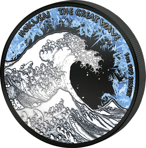 GREAT WAVE Deep Frozen Edition 1 Oz Silver Coin 1$ Fiji 2017
