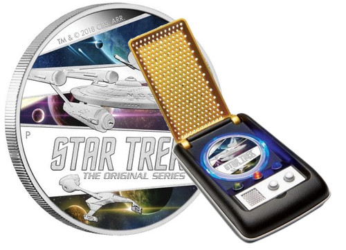 STAR TREK SHIPS The Original Series 2 Oz Silver Coin 2$ Tuvalu 2018