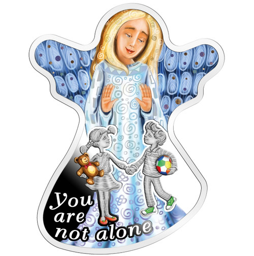 YOU ARE NOT ALONE Angel Silver Coin 500 Francs Cameroon 2018