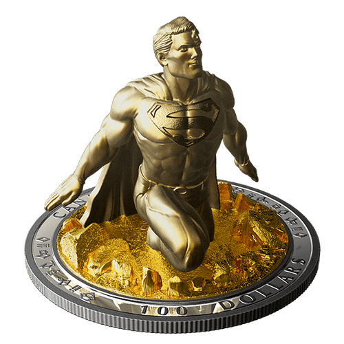 10 oz. Silver Gold-Plated Coin - Superman The Last Son of Krypton CA 2018