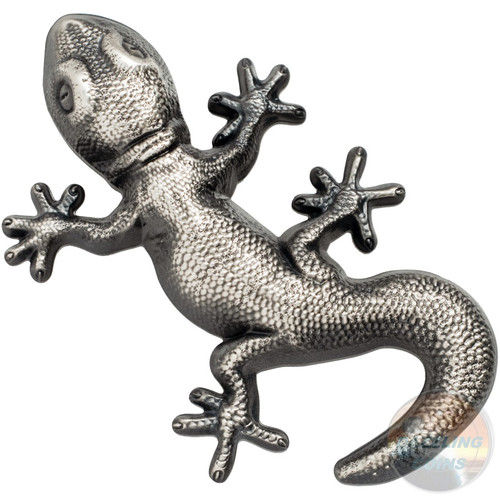 GECKO Natural Perspectives Shaped 1 Oz Silver Coin 5$ Palau 2018