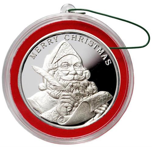 2018 SANTA CLAUS 1 oz Fine Silver Christmas Round