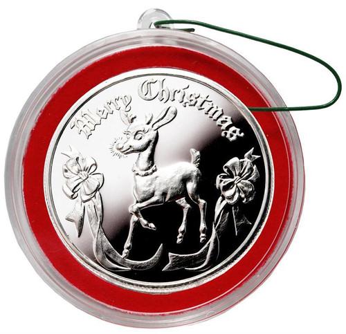 2018 RUDOLPH 1 oz Fine Silver Christmas Round