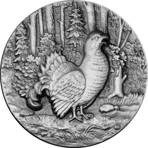 Capercaillie Ultra High Relief 1 oz Silver Coin 2016 Niue