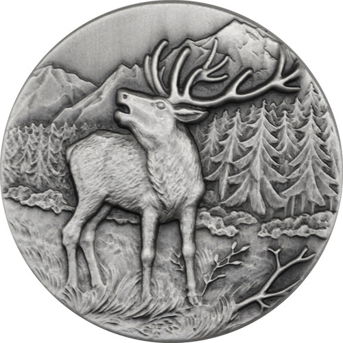 Red Deer Ultra High Relief 1 oz Silver Coin 2015 Niue