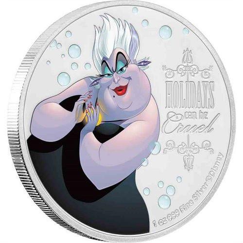 URSULA Disney Villains 1 oz Silver Coin 2018 Niue