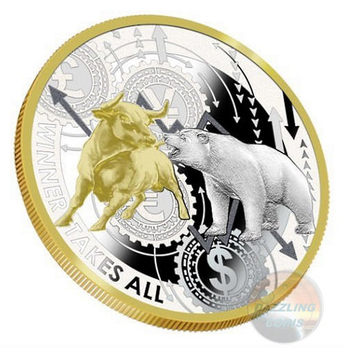 WINNER TAKES ALL NYSE 1 Oz Silver Coin 1000 Francs Cameroon 2019