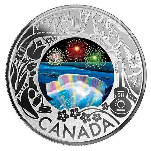 NIAGARA FALLS Silver Coin $3 Canada 2019