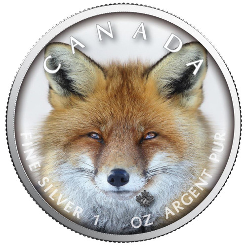 MAPLE LEAF - RED FOX  Canada's Wildlife  -  1 Oz Silver Coin 5$  2019