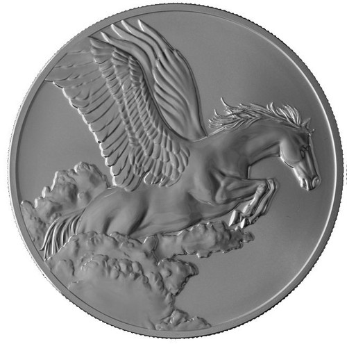 SPAWNS PEGASUS 1 oz Antique Finish Coin $5 Tokelau 2014