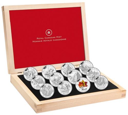 O Canada 12 coins-$10 1/2 oz Silver Coin Set