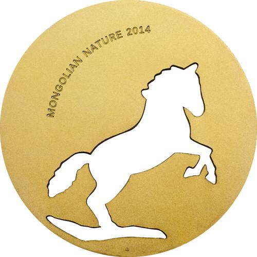 Mongolia 2014 500 Togrog Mongolian Nature - Horse Gold PL
