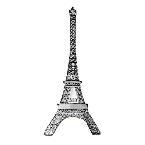 The Eiffel Tower shape Silver Coin 125th Ann. 2014