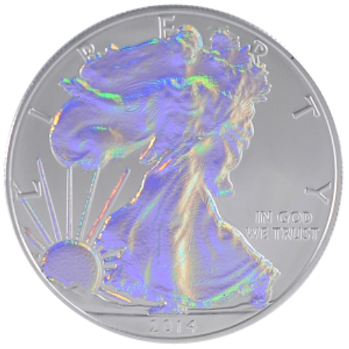 2014 American Eagle Coin Hologram  Walking Liberty .999