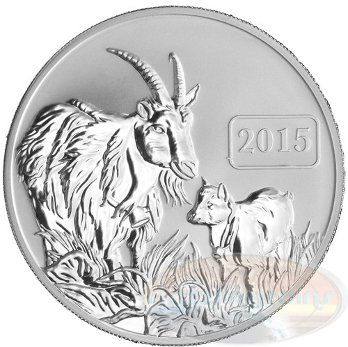 2015 Tokelau 1 Oz .999 Fine Silver Year of the Goat